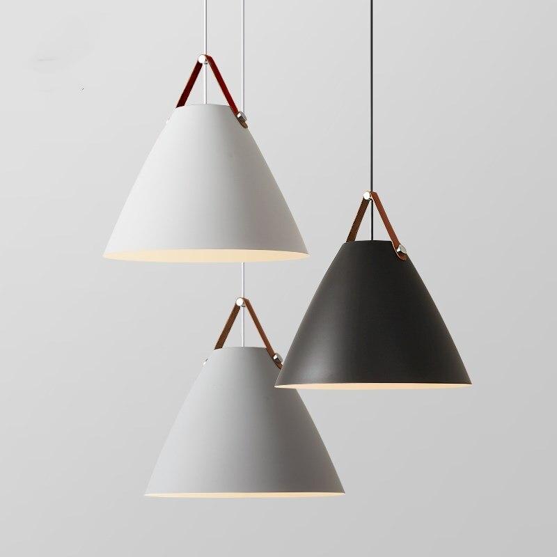 Lampes suspendues en fer moderne Style nordique lampes suspendues pour cuisine salon salle à manger lampe pendante suspension luminaire