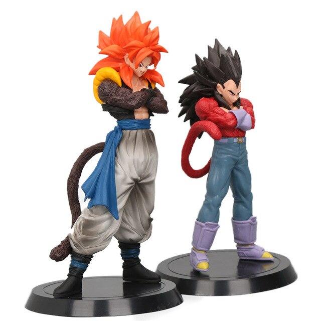 18-20 cm 4 Son Goku Vegeta Gogeta Super Saiyan Dragon Ball Z GT Figuras de Ação PVC Brinquedos Coleção bonecas modelo Drago Brinqudoes