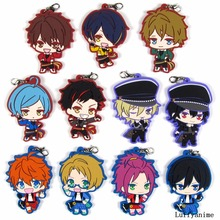 Ensemble Stars Rubber pendant Akehoshi Subaru Japanese anime cartoon PVC Toy Figures Mobile Phone Accessories strap Keychain
