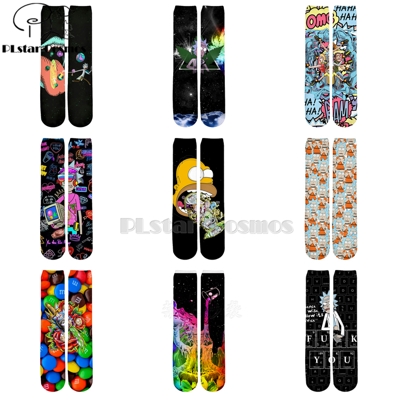 Plstar Cosmos Rick And Morty Socks Cartoon 3d Socks Men Women Funny 3D High Men Women High Quality Cartoon Socks Dropshopping-5