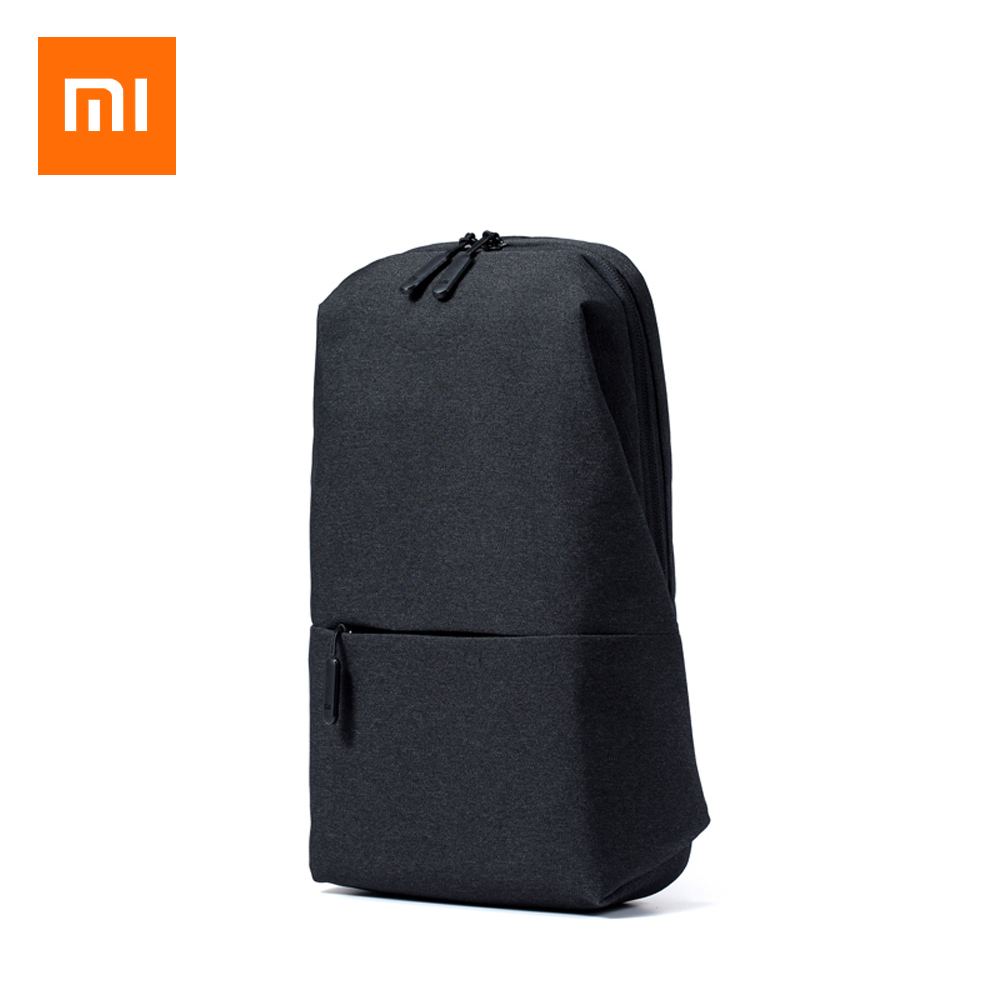 Original Xiaomi Backpack urban leisure chest pack For Men Women Small Size  Shoulder Type Unisex Rucksack for camera DVD phones d9b23df05bfa2
