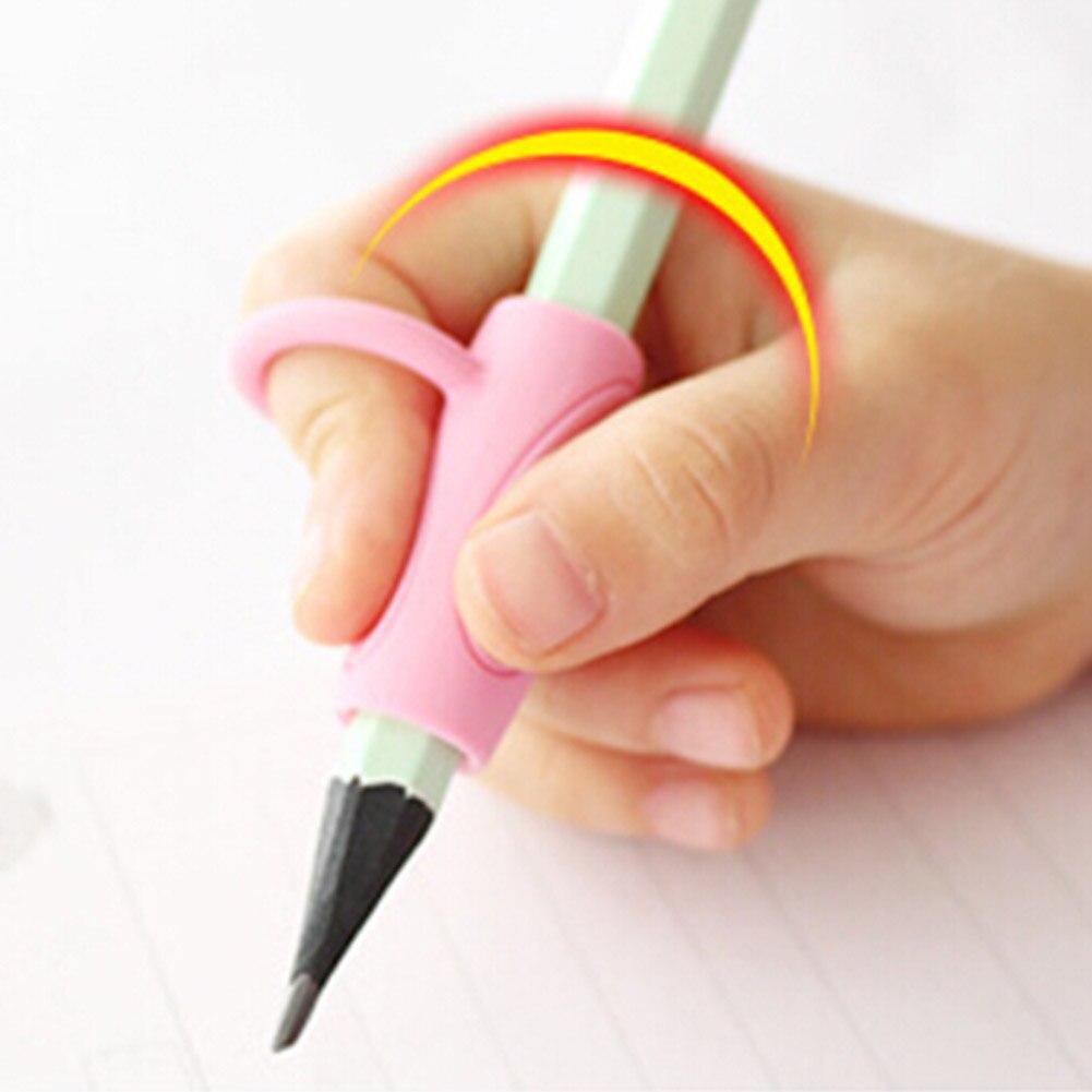 3 шт./компл. высокое качество силиконовые ребенка обучающие игрушки письменная осанка инструмент держать ручку коррекции Канцелярский набо...