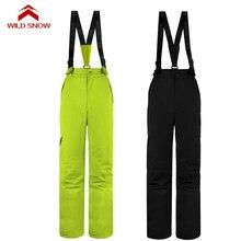 New Suspender ski pants women waterproof snow pants windproof sport snowboarding bib pant overalls women's outdoor ski trousers