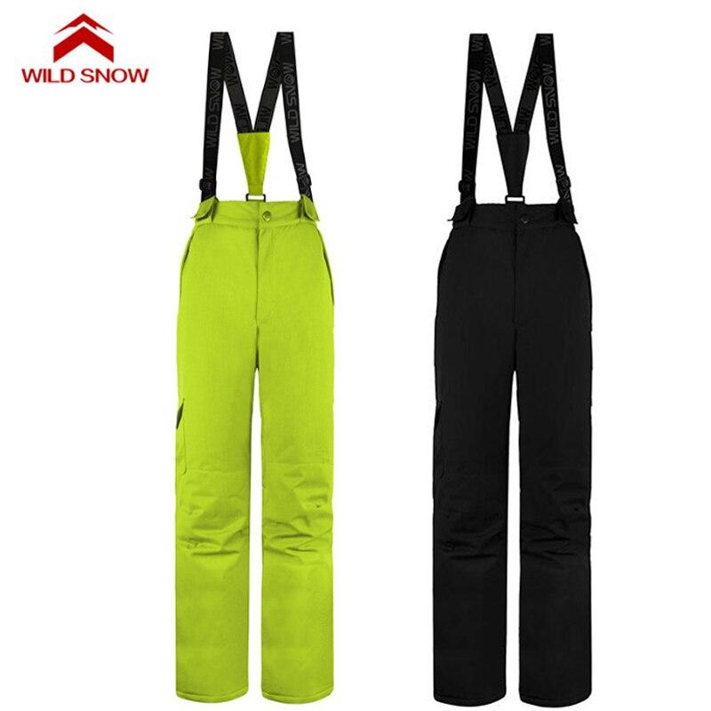 Pantalon de Ski hydrofuge femme hiver sports de plein air snowboard bavoir salopette pantalon coupe-vent Ski des neiges pantalon S-XXL - 3