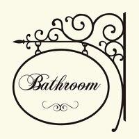 Bathroom Hanger Sign Wall Sticker Washroom Toilet Door Hanger Wall Window Decal Home Lettering Words Quote