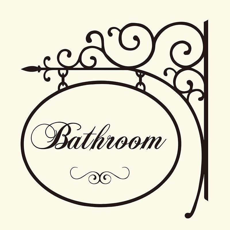 Ванная комната вешалка знак стены Стикеры Санузел туалет двери вешалки настенные Окно Наклейка домой Надписи слова Цитата Декор винил