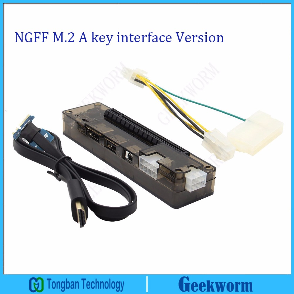 PCIe PCI E PCI Express Card Laptop EXP GDC Laptop External Independent Video Card Dock  (NGFF M.2 A key interface Version)-in Laptop Docking Stations from Computer & Office    1