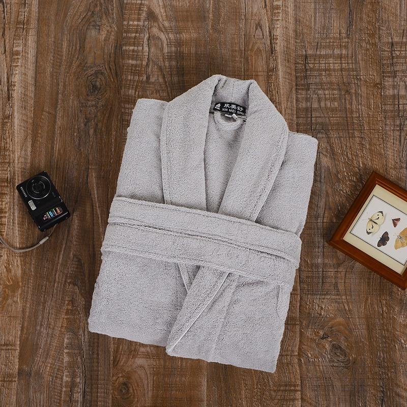 100 terry cotton bathrobes men toweled thickening robe men BATHROBE