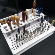 DIY بها بنفسك اليد الخياطة الجلود التي تحتوي على Pidiao لكمة نحت الجلود الحرفية Stamps مجموعة أدوات حرفية حامل