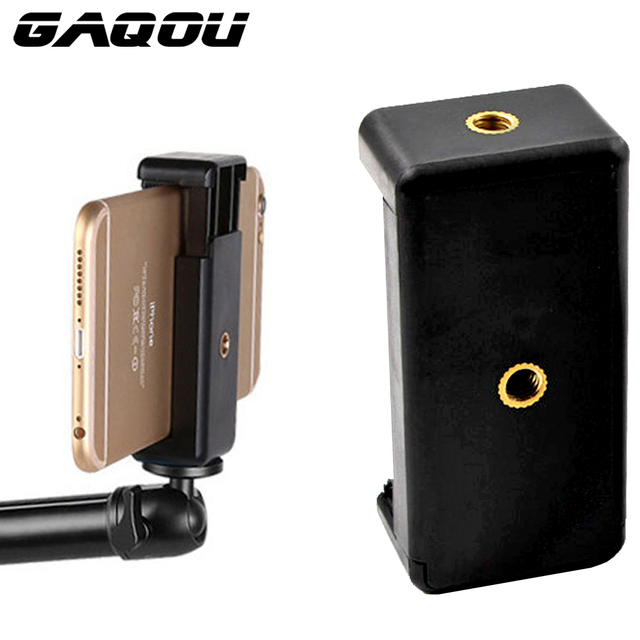 GAQOU Universal Monopod Holder Clip for Mobile Bracket For Camera Tripod Mount Holder Stand for iPhone Samsung Xiaomi Phone