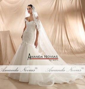 Image 5 - Amanda Novias 2020 New Model Mermaid Wedding Gown Beading Lace Wedding Dress
