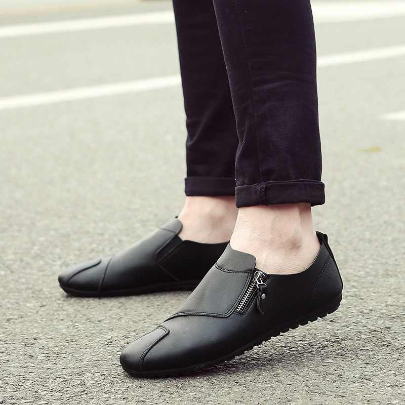 Zacht Leer Mannen Comfy Soft Casual Loafers Schoenen voor Mannen Bruin Zwart Outdoor Slip op Platte Schoenen zapatos de hombre WF187