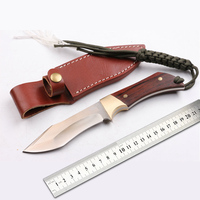 Free shipping New wide straight knife blade thick blade D2 steel 56 59 HRC hardness outdoor camping knife survival tool