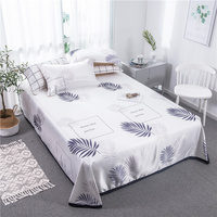 Nordic Summer Sleeping Bed Mat Foldable Bed Sheet Adult Bed Mattress Protector Cover White Leaves Summer Ice Silk Sleep Mat Set