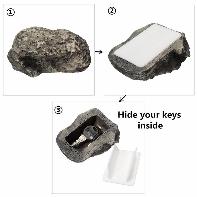 Key Box Rock Outdoor Hide In Stone Storage Security Safe Organizer Door Case Box Hiding Garden Ornament Fake Rock Holder