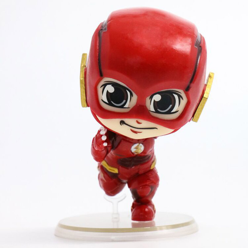 DC Comic Figure The Flash Action Figure Cute Bobble Head Doll Running Ver. Toy 8.5cm image