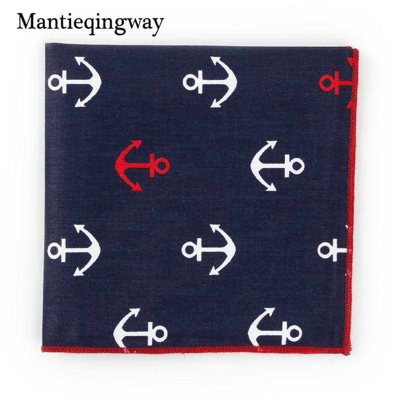 Mantieqingway Wedding Men Suits Pocket Hankies Print Hnakerchief Cotton Chest Towel Pocket Square For Men Fashion Clothing Suits