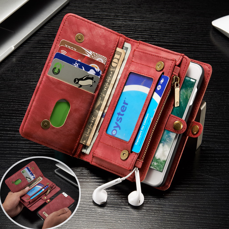 Retro lyxigt äkta läderfodral för iphone 6 6S 7 Plus väska - Reservdelar och tillbehör för mobiltelefoner - Foto 1