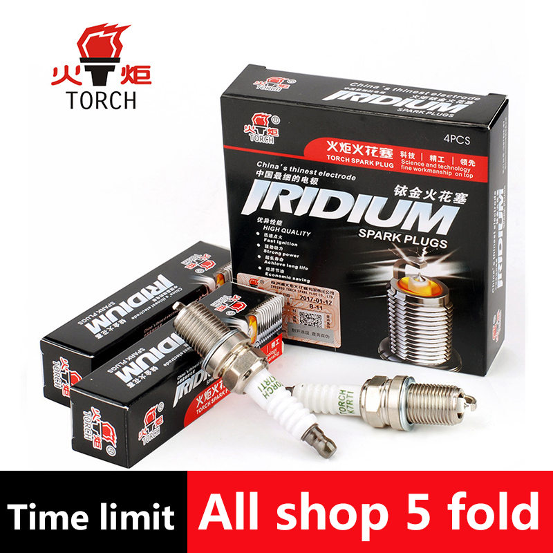 4pcs/lot China original TORCH	Iridium spark plugs	K7RTI	for BRILLIANCE M2/BYD F3/F5/F7;CHANGAN CS75/RAETON;CHERY A1/A5/AMULET rti ecb 5