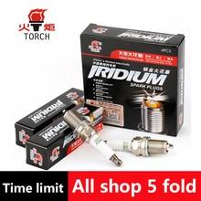 4pcs/lot China original TORCHIridium spark plugsK7RTIfor BRILLIANCE M2/BYD F3/F5/F7;CHANGAN CS75/RAETON;CHERY A1/A5/AMULET