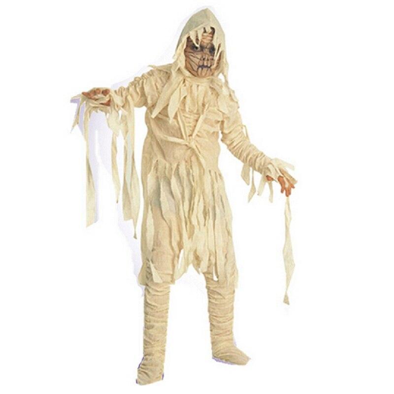 Шанхай история Halloween Masquerade шоу костюмы для детей, косплей зомби мумия одежда, детская дьявол призрак вурдалак праздничное платье