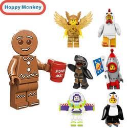 Для детей DIY Развивающие игрушки Legoinglys Ninjagoly строительные блоки банан Guy Master Wu Пряничный человек кирпичи фигурки zk35