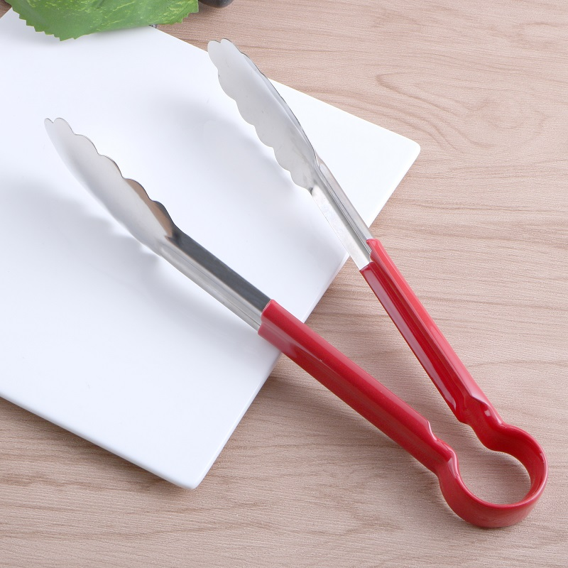 Hot Sale Stainless Steel BBQ Tongs Salad Bread Clamp Kitchen Meat Food Clip Barbecue Tools 3 Size To Choose