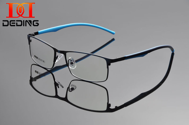DEDING Half Rim Glasses Frame Prescription Eyeglasses 54-18-138 Semi-rimless Eyewear Business Optical Glasses Frame DD1303