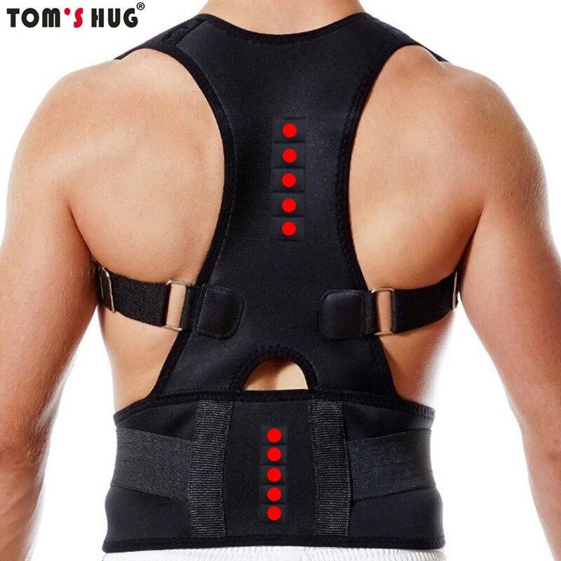 Tom's Hug Adjust Magnetic Shoulder Back Support Belt Therapy Posture Corrector Beige Man and Women Shoulder Posture Belt