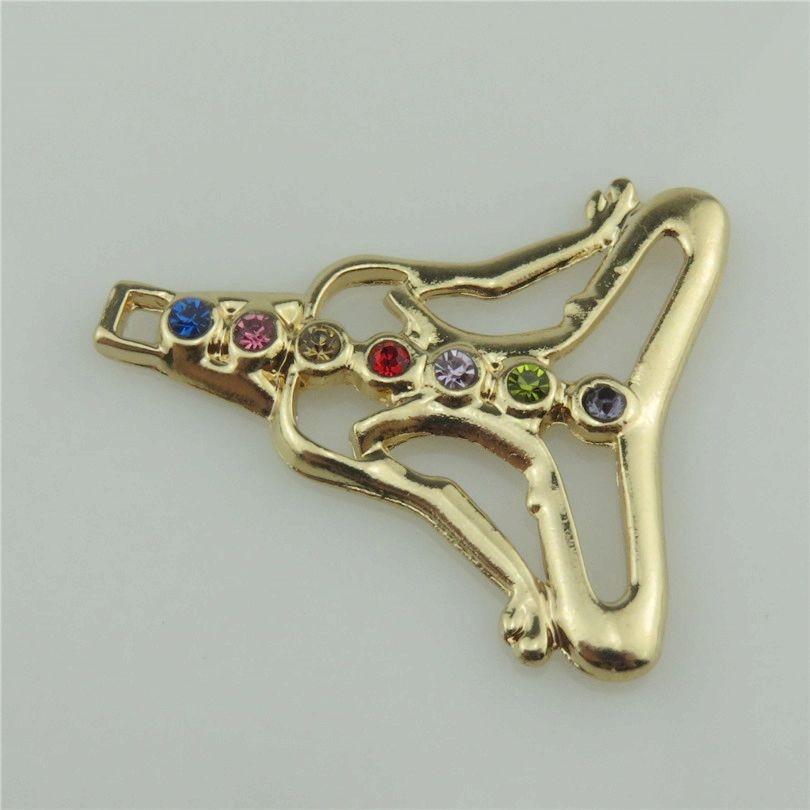 20368 2pcslot Gold Jewelry Crafts Hindu Chakra Colorful Stone