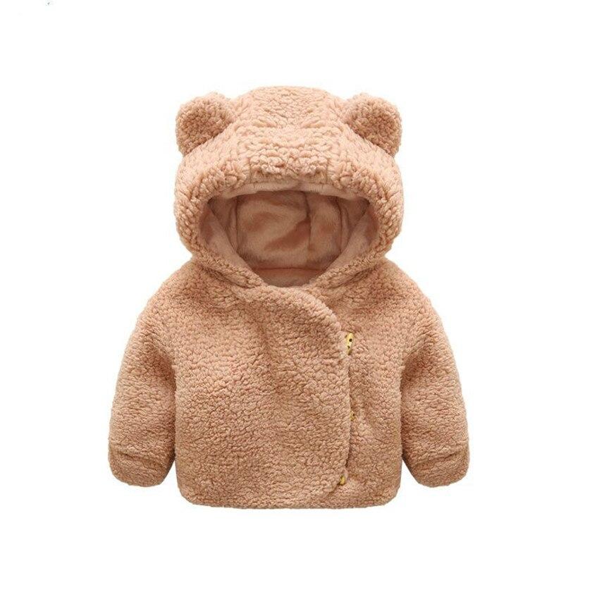 Зима-осень Детская куртка одежда с рисунком милого медведя с капюшоном пальто для маленьких девочек одежда От 0 до 2 лет Куртки для маленьких...