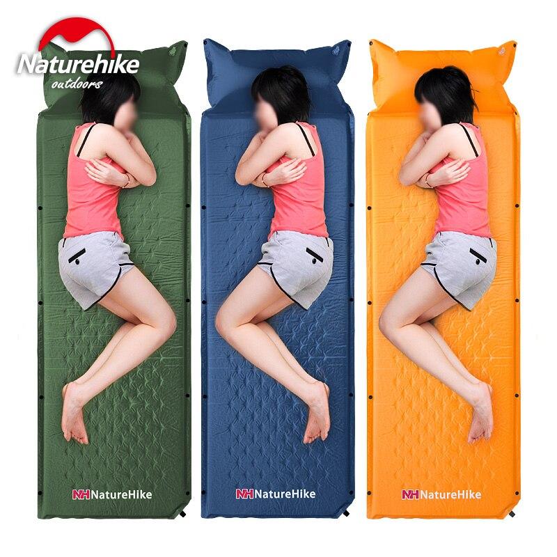 Naturel randonnée usine magasin extérieur étanche à l'humidité pad épaississement sieste tapis tapis de couchage automatique gonflable épissé tapis tente Pad