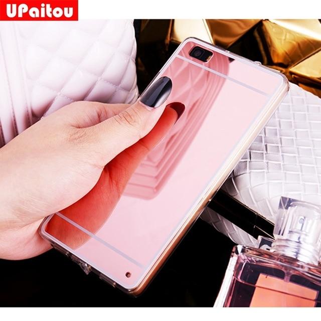 UPaitou for Huawei P8 Lite Cases Luxury Bling Mirror Case for Huawei ALE-L21 Back Cover for Huawei P8Lite Dual Sim Soft TPU Case