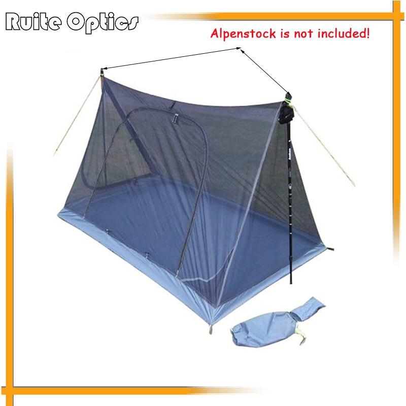 더블 도어 야외 모기 방지 두 사람 거즈 요소 모기장 접이식 내구성 캠핑 텐트 방수 바닥-에서모기망부터 홈 & 가든 의  그룹 1