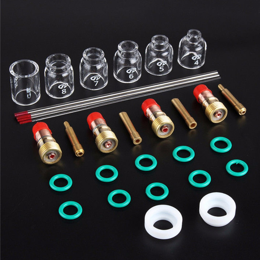 Tools : 30pcs TIG Welding Accessories Torch Stubby Gas Len Glass Cup Seal Rings Tig Welding Kit for WP17 18 26 Mayitr
