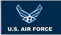 United States Air Force Eagle and Star Insignia Blue and White Logo Flag 3x5 ft Poly, free shipping