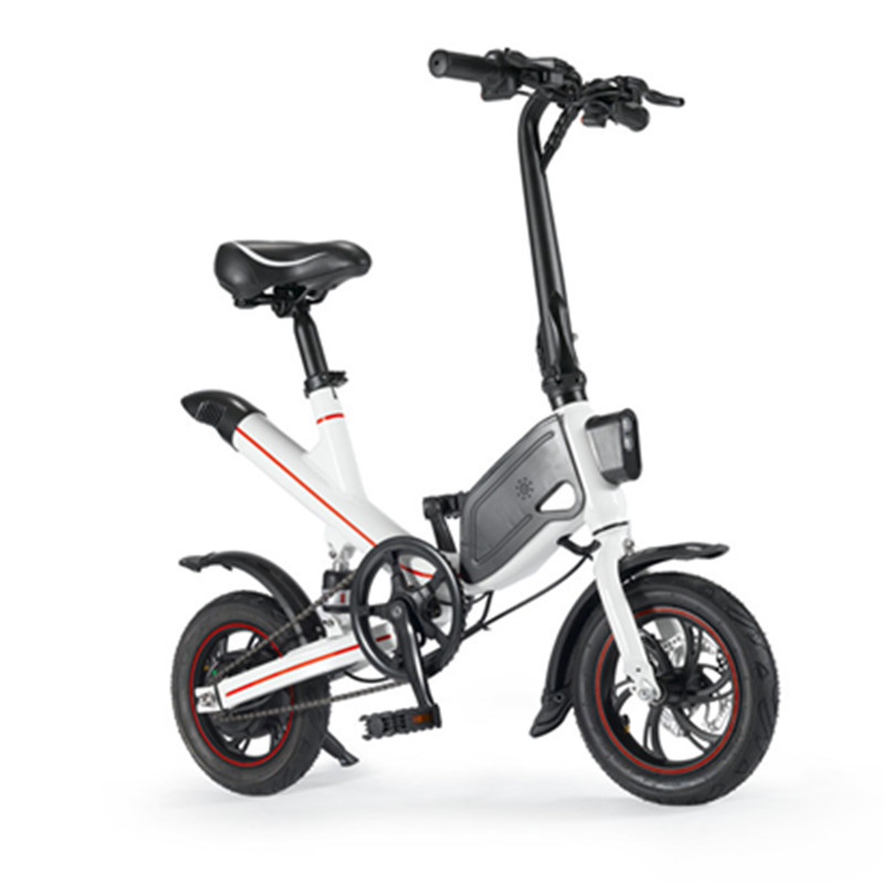 mini electric bike two wheels electric bicycle 12 inch 36v 350w portable foldable electric. Black Bedroom Furniture Sets. Home Design Ideas