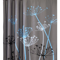 2017 Hot Sale Dandelion Pattern 3D Waterproof Polyester Shower Curtain with 12 Plastic Hooks Curtains for Bath Shower