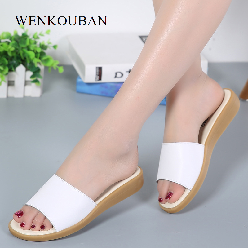 Summer Women Home Slippers Flat Indoor Comfortable Sandals Ladies Beach Shoes Casual Chaussure Femme fongimic summer women flat shoes comfortable casual all match beach sandals high quality girl beach flowers elastic band sandals