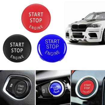 New ABS Start Stop Engine Button Switch Cover for BMW X5 E70 X6 E71 3Series E90 E91 Interior Accessories New Style 3 Colors image