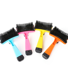 1 pcs Pet Grooming Multi-functional 4 colors Plastic Brush Massage Comb For Small Medium Dogs Supplies Professional Combs