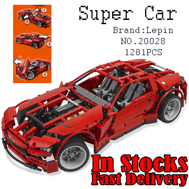 1281PCS Lepin 20028 Technic Super Car Vehichles Building Bricks Blocks Toys for Children Kids Compatible 8070 city airport vip private plane blocks bricks building technic christmas toys for children compatible with legoeinglys lepin 8911