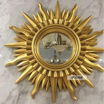 Солнце бог гостиная американский стиль Европа настенное украшение для крыльца зеркало рамка подвесное зеркало