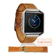 Luxury Genuine Leather Buckle Sport Watch band Wrist strap For Fitbit Blaze Smart watch