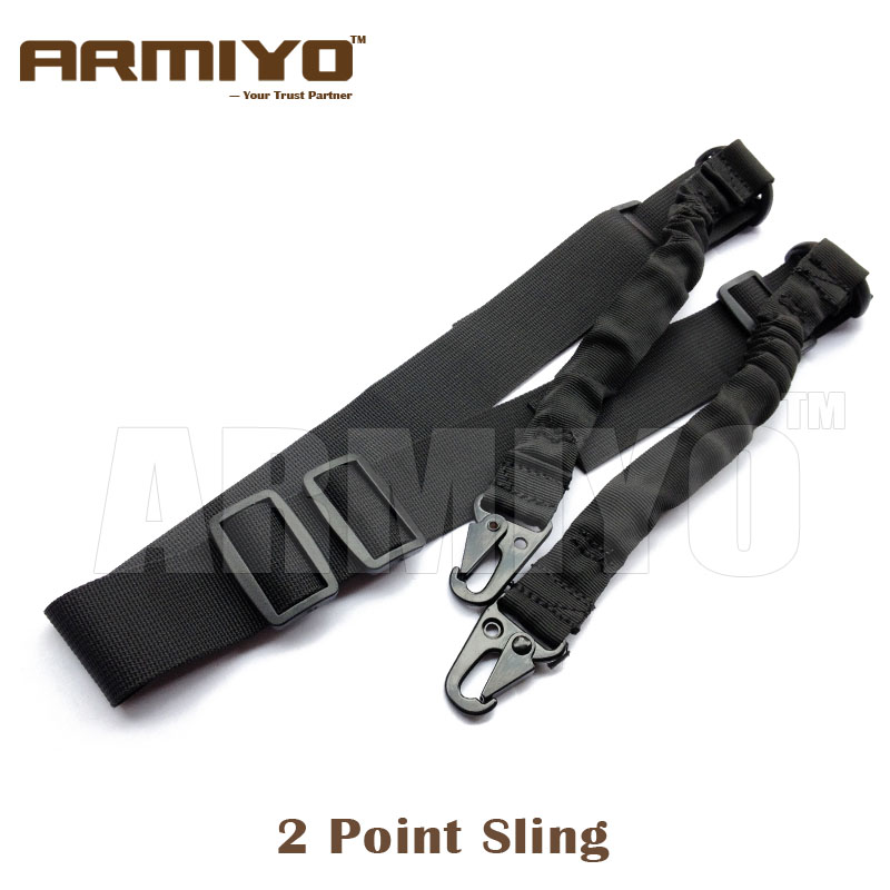 Armiyo Tactical 2 Point Hunting Spring Hook Sling Shoulder Strap Harnesses Shooting Accessories