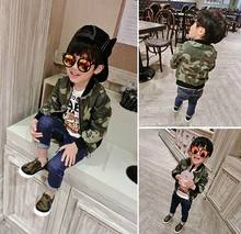 2016 Autumn New Boy Jacket Camouflage Cotton Zipper Fashion Baseball Coat Children Clothes 1109