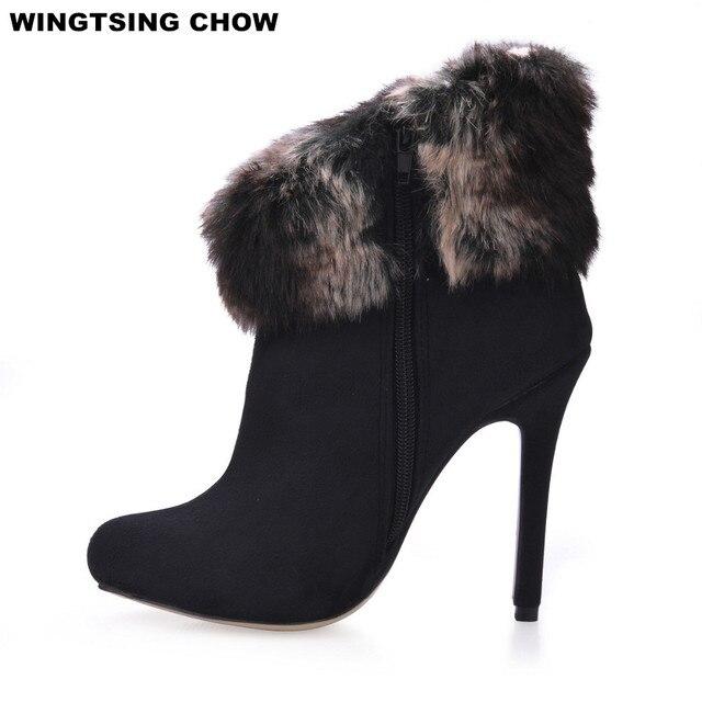 dames schoenen met bont