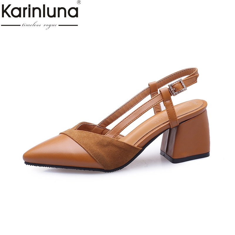 Karinluna Pointed Toe Plus Size 46 Chic Style 2019 Brand New Elegant Office Lady womens Pumps Classics womens ShoesKarinluna Pointed Toe Plus Size 46 Chic Style 2019 Brand New Elegant Office Lady womens Pumps Classics womens Shoes