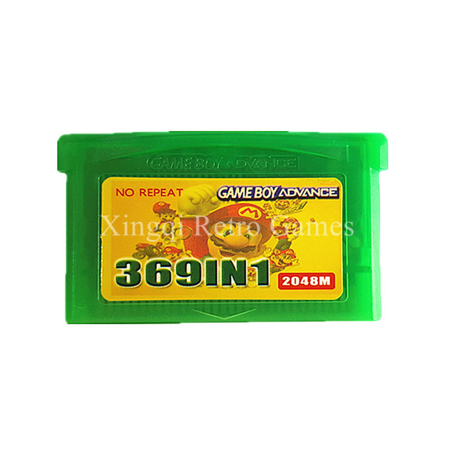 Nintendo Super 369 in 1 Video Game Cartridge Console Card Compilations Collection