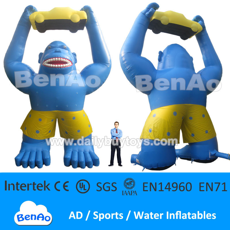 DC24 PVC Inflatable Gorilla holding a sale car 33ft high + Repair Kits + Blower 100% positive feedback Factory price